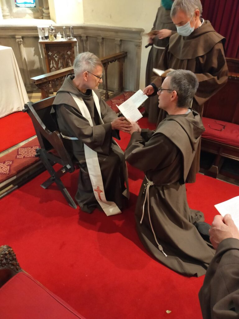 Brother Finnian makes First Profession