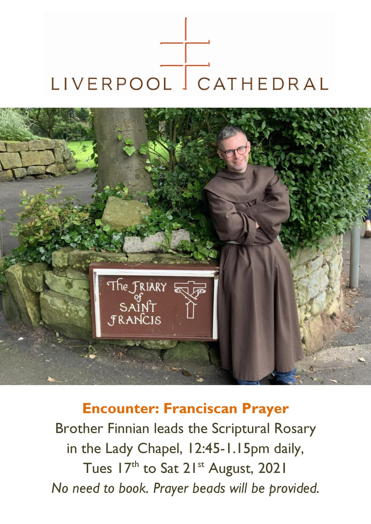Brother Finnian to Lead Week of Prayer at Liverpool Cathedral
